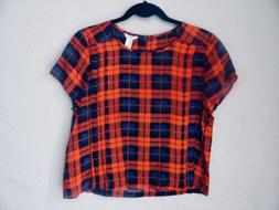 Forever 21 Stripe Flannel Tartan Plaid Women's Top Tee Shirt