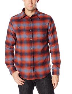 Merrell Men's Subpolar Flannel Shirt, X-Large, Dark Rust