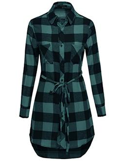 Made by Emma Super Cute Flannel Plaid Checker Shirts Dress w