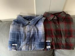George Super Soft Flannel Shirts Lot Of 2 NWT 3xl 54-56