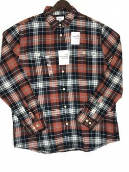 supersoft flannel long sleeves button front mens