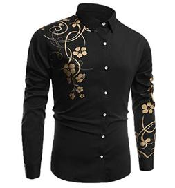 Tootless-Men T-Shirts Button Long Sleeve Printing Relaxed-Fi