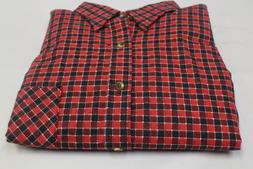 Tall Men Red Oaks Ranch Apparel Flannel Shirt Small Tall Wes