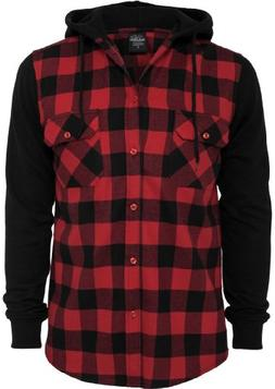 tb513 hooded checked flannel sweat
