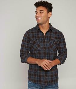 RVCA That'll Work Flannel Shirt Plaid Long Sleeve Regular Fi