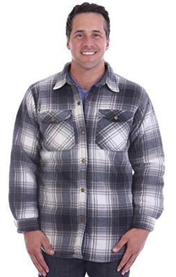 Woodland Supply Co. Mens' Thermal Lined Plaid Outerwear Shir