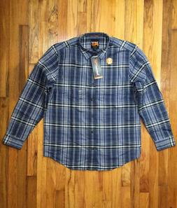 TIMPERLAND PRO MEN'S R VALUE FLANNEL WORK SHIRT A1285 BLUE P
