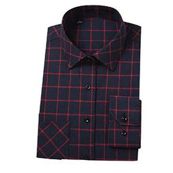 Tootless-Men Long Sleeve Plaid Flannel Lounge Tees Top Shirt