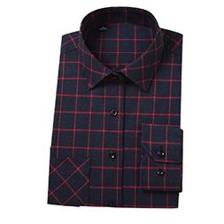 Tootless-Men Lounge Plaid Flannel Long Sleeve Tees Top Shirt