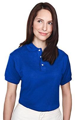Tri-mountain Womens 60/40 pique golf shirt. 102TM - ROYAL_L