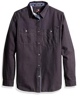Gramicci Twill Flannel Shirt, Dark Shadow, Large