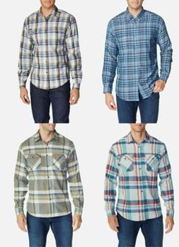 U-PICK Eddie Bauer Long Sleeve Plaid Shirts S,M,L,2XL,3XL Co