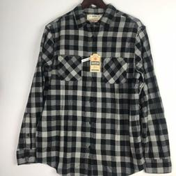 Urban Pipeline Ultimate Flannel Shirt Plaid Gray/black Sz M