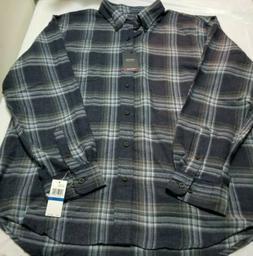 Arrow USA 1851 Mens XL Navy Blazer Plaid Button Up Shirt Lon