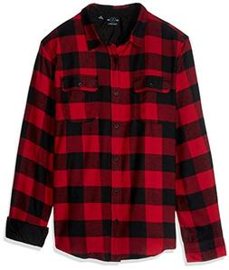 Burnside Men's Vector Buffalo Long Sleeve Button Down Solid