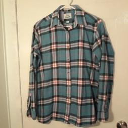 Vintage Van Heusen Flannel Shirt Mens Size Medium  Authentic