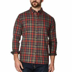 Weatherproof Vintage Men's Flannel Shirt - ORANGE  FAST SHIP