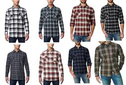 Weatherproof Vintage Men Flannel Long Sleeve Button Down Shi
