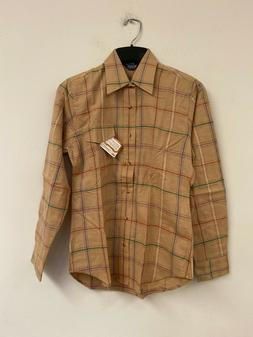 Vintage NEW NWT MENS WOOLRICH THICK WORK SHIRT Small S  Tan
