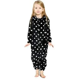 Vovotrade Child Dot Printing Hooded Flannel Long Sleeve Trac