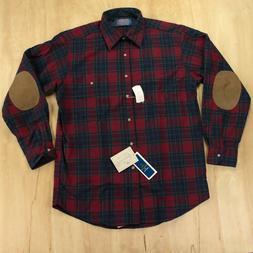 vtg deadstock usa wool flannel shirt elbow