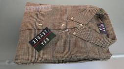 Vtg NWT TRADER BAY Heavy Flannel Sportswear LS Shirt Large N