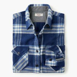 Wallace & Barnes heavyweight flannel shirt in vista plaid M