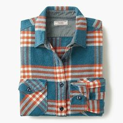 Wallace & Barnes heavyweight flannel shirt in vista plaid S