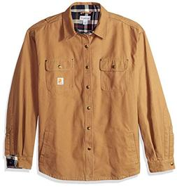 Carhartt Men's Weathered Canvas Shirt Jacket Snap Front,Fron
