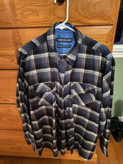 Van Heusen Winterweight Flannel Shirt. Never Worn. Size Larg