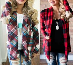 women flannel plaid shirts loose cardigan long