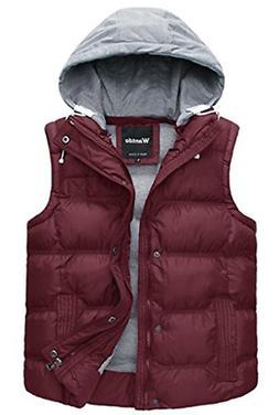 Wantdo Women's Boyfriend Style Winter Hooded Cotton-padded V