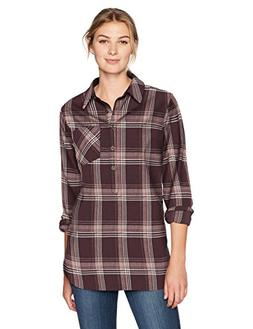 Carhartt Women's Farwell Shirt, Deep Wine, L