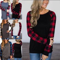 Women's Flannel Plaid Long Sleeve Shirts Casual Loose Cardig