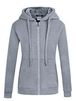 Wantdo Women's Fleece Hoodie Warm Sweatshirt Slim Fit Sherpa