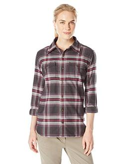 Carhartt Women's Hamilton Flannel Shirt, Minimal Gray Heathe