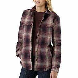 Carhartt Women's Hubbard Sherpa Lined Shirt Jac - Choose SZ/