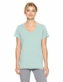 HUE Women's Short Sleeve V-Neck Sleep Tee - Choose SZ/color