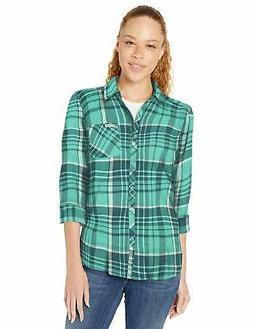 Columbia Women's Simply Put II Flannel Shirt, Aqua - Choose
