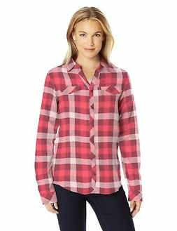 Columbia Women's Simply Put Ii Flannel Shirt, Bloodstone Che