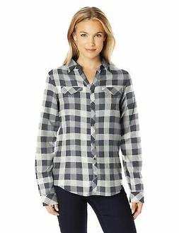 Columbia Women's Simply Put Ii Flannel Shirt, Shark Check, X