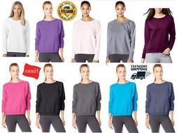 Hanes Women's V-Notch Pullover Fleece Cotton Sweatshirt Roun