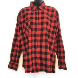 womens 2xl buffalo plaid flannel shirt black