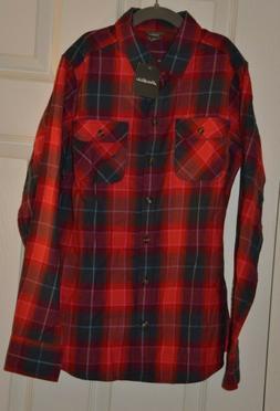 Eddie Bauer Womens XS Flannel Shirt NWT