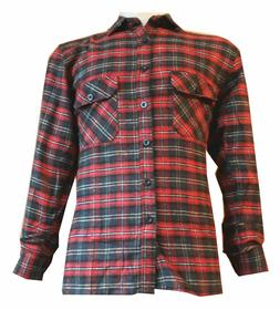 work brush cotton casual shirt check flannel