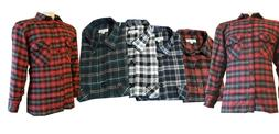 Work Casual Shirt Flannel Brush Cotton Check Lumberjack Gard