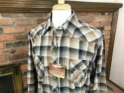 Wrangler WRANCHER Pearl-Snap Long Sleeve Button Western Flan